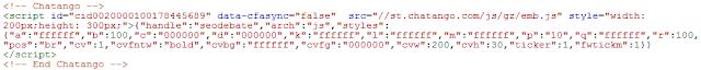 kode chatango di template