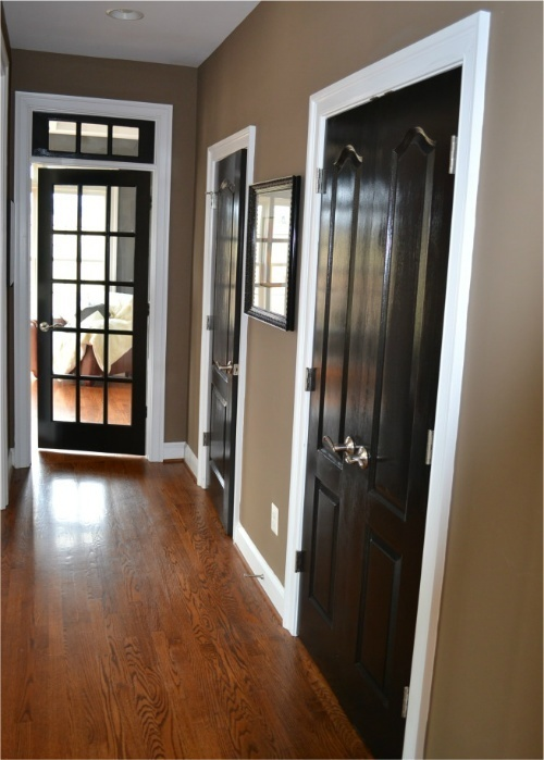 Black Doors With Oak Trim : C b i d home decor and design creating magic with tan