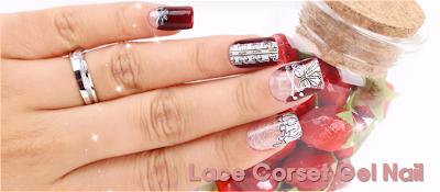 Lace Corset Gel Nail