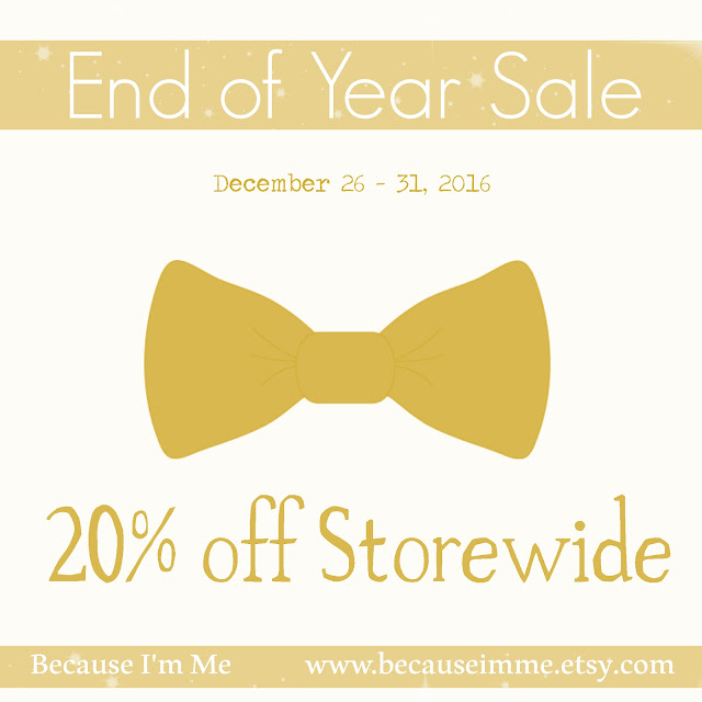 Because I'm Me Storewide Sale, Save 20% through the end of 2015
