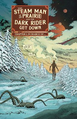 Interior art from The Steam Man #1, Courtesy of Dark Horse Comics