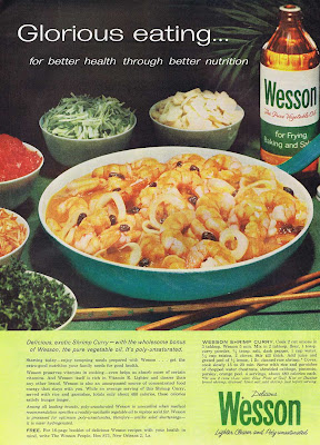 Vintage 1960 Shrimp Curry Recipe from Wesson Oil.