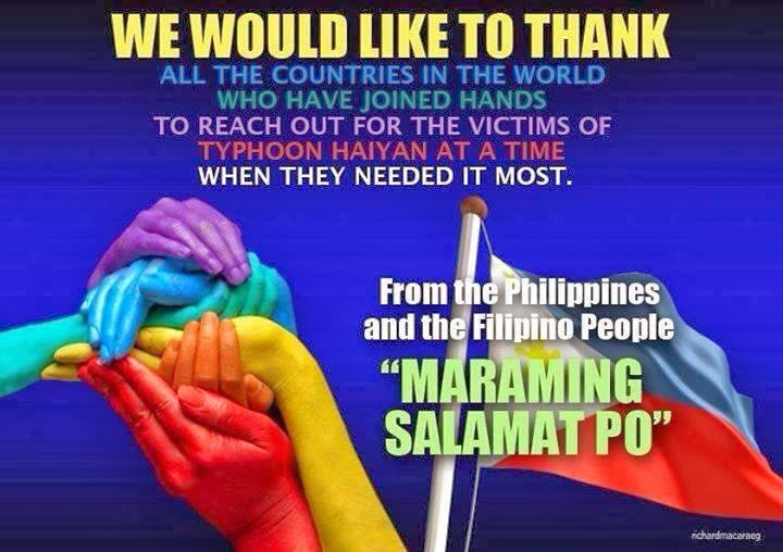 Thank You from the Filipino people: