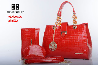 Tas KW Givenchy Chyntia Embos Glossy Set 3in1 3052DC Jakarta