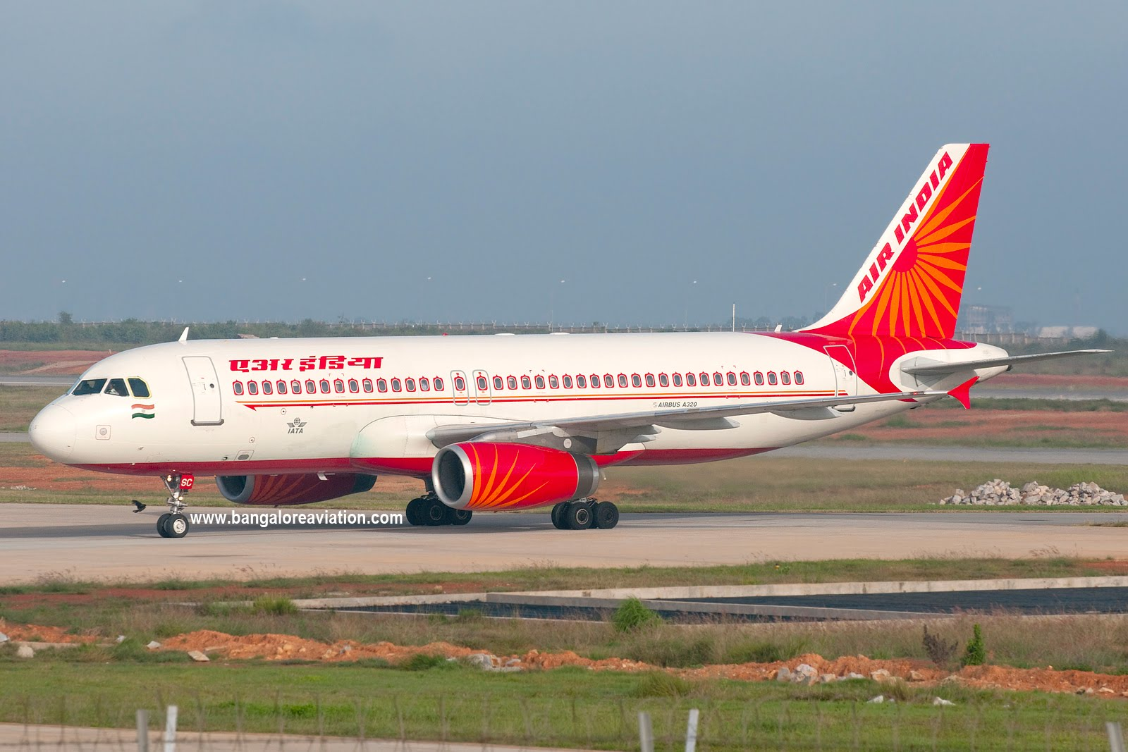 of Indian Airline's early A320 VT ESC in the new Air India livery
