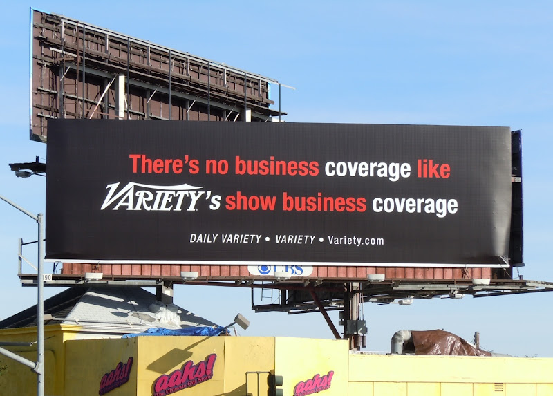 Show Business Variety billboard