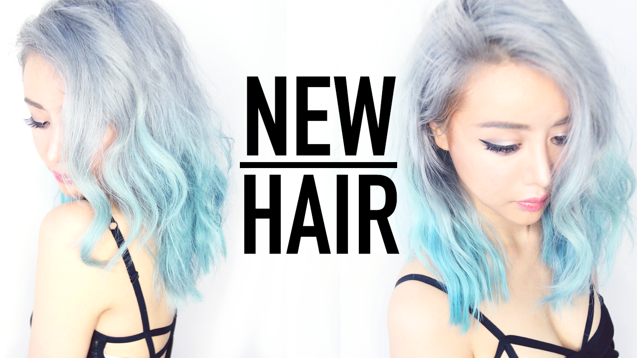 Silver Ombre Hair From Blue Remove Hair Color In 1 Wash Tutorial