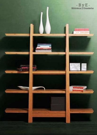 Bibliotecas y estanterias biblioteca modelo zen hecha con madera reciclada de pino brasil - Estanterias de madera a medida ...