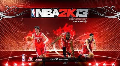 NBA 2K13 Houston Rockets Big 3 Cover Screen