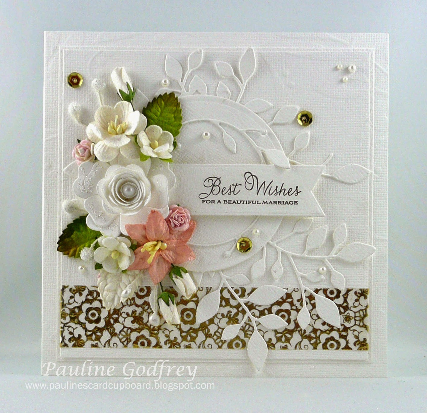 I Made For A Friends Mother In Law To Give Her Daughter On Wedding Day Love Fussing With Making Cards Them So Pretty And Elegant