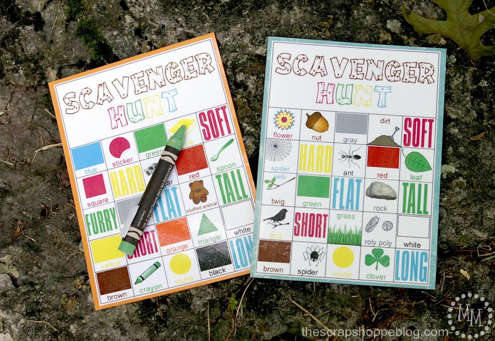 summer camp scavenger hunt with free printables design dazzle