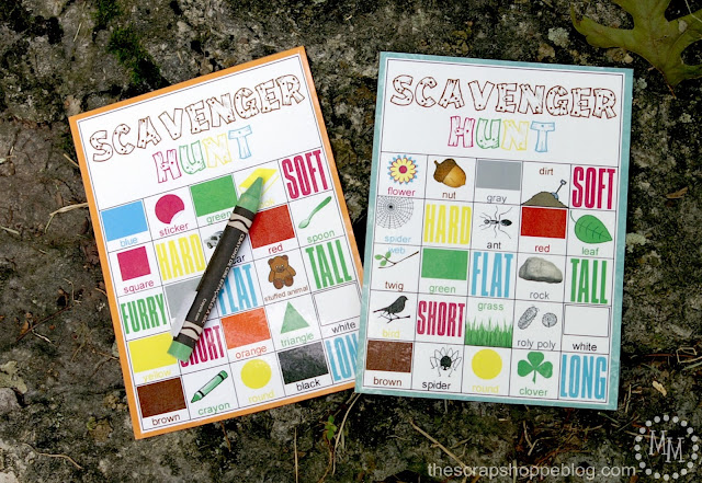 Design Dazzle Summer Camp -  Scavenger Hunt FREE Printables