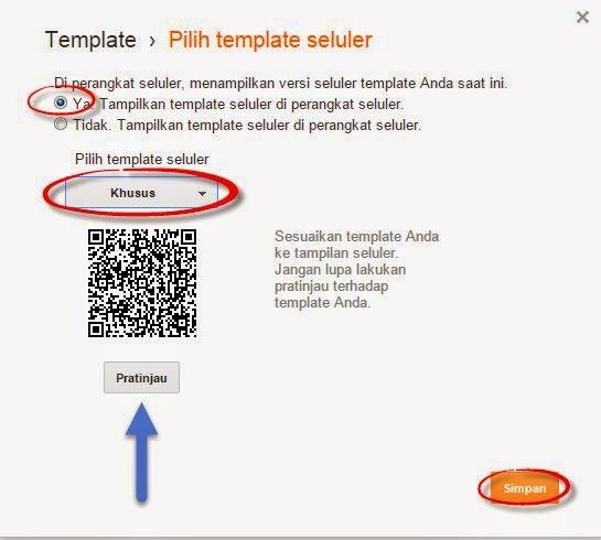 Cara Membuat/Mengaktifkan Blog Versi Mobile Seluler