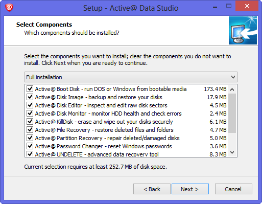 active data studio installation