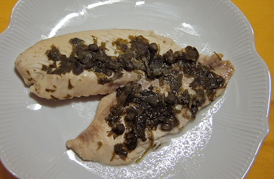 Poached Fish Plated