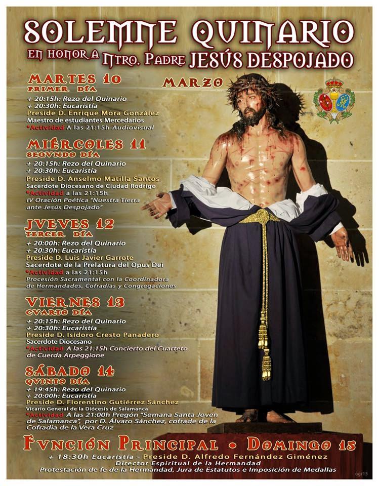 QUINARIO JESÚS DESPOJADO