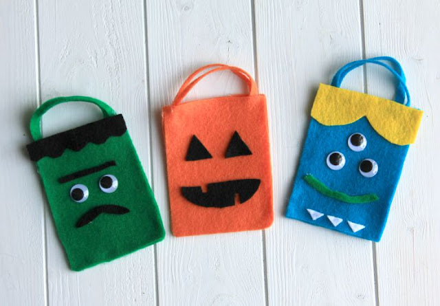 Scare up some silly fun this Halloween with these easy to make treat bags! #TrickOrSweet #ad
