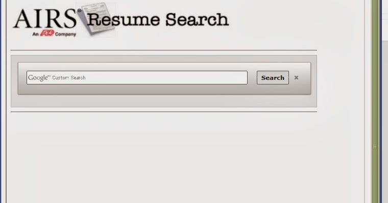 The Recruiter\'s Today: AIRS Free Resume Search