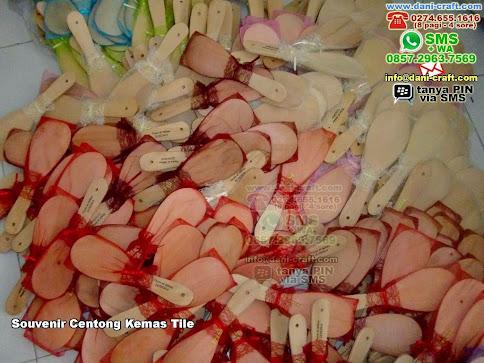Souvenir Centong Kemas Tile Kayu Tile Mataram