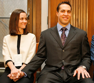Mark Teixeira and his wife