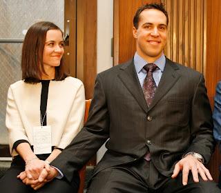 Mark Teixeira and his wife