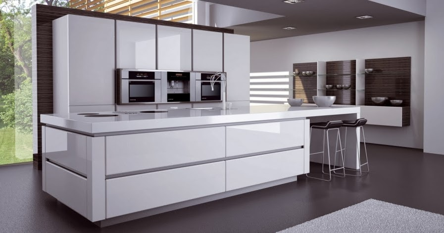 cuisine moderne blanche avec lot. Black Bedroom Furniture Sets. Home Design Ideas