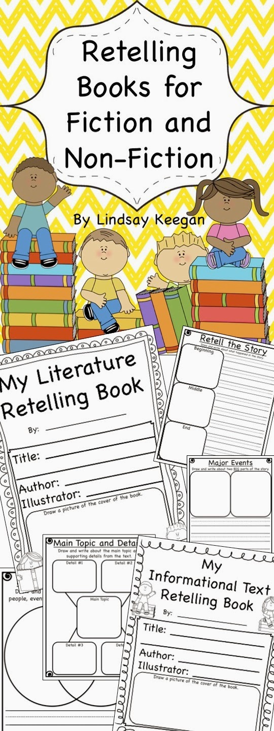 http://www.teacherspayteachers.com/Product/Fiction-and-Nonfiction-Text-Retelling-Books-Common-Core-Aligned-1042630