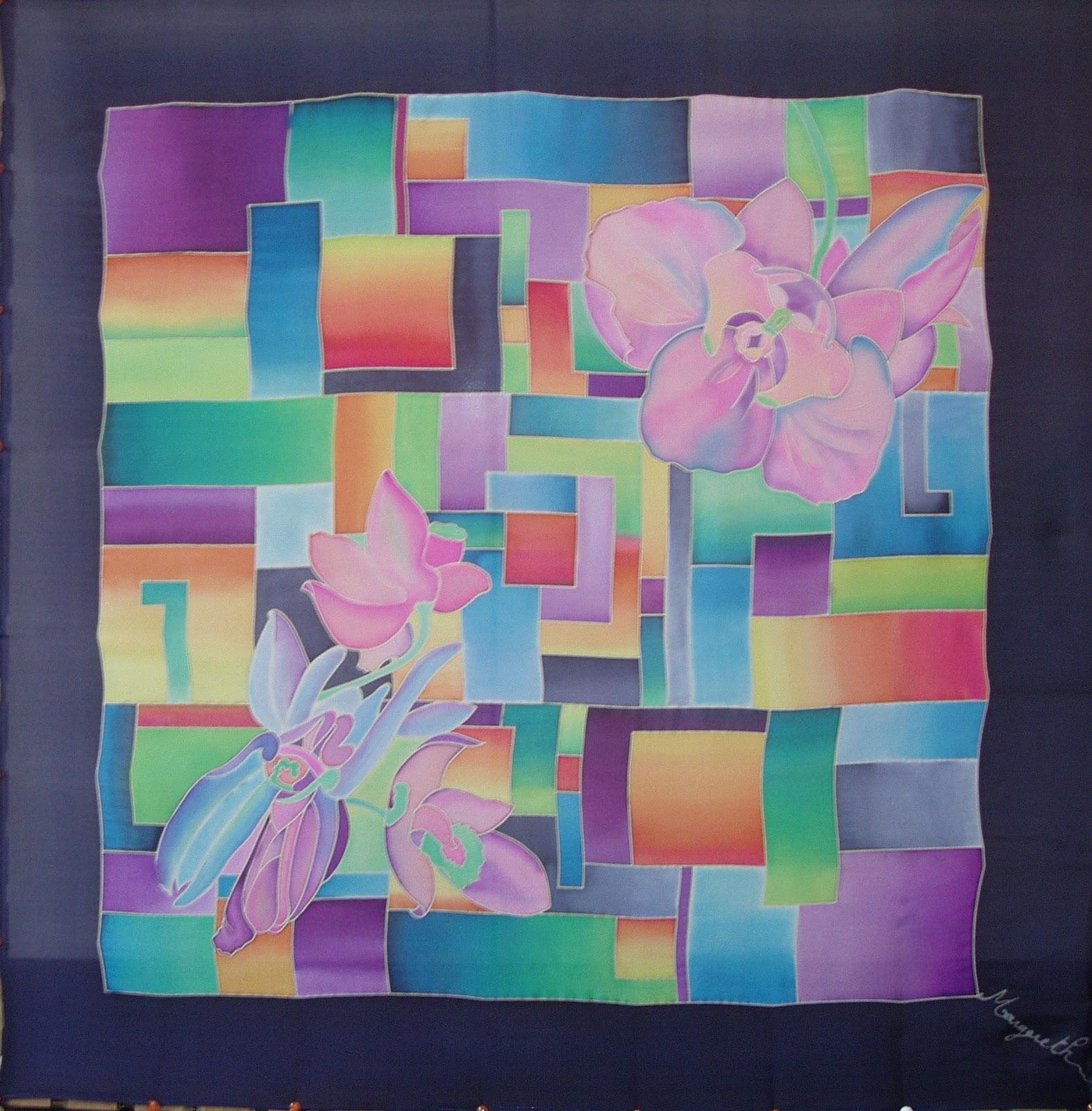 La voie des couleurs fleurs de printemps en hiver for Technique de peinture sur soie en video