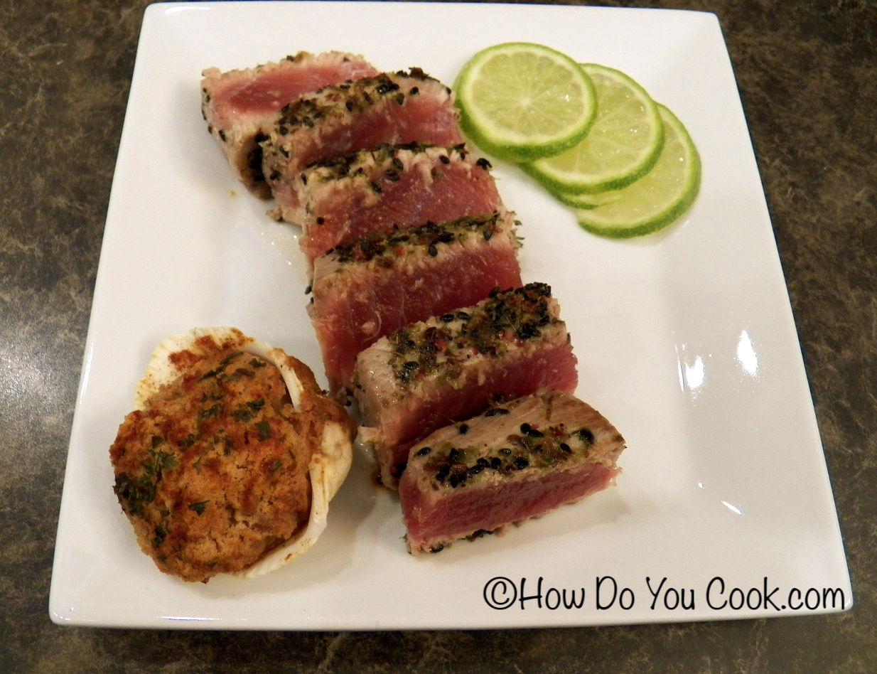 The Simplest Way To Cook Tuna Is With A Coating Of Kosher Salt And Lots Of  Freshly Ground Black Pepper. Plain And Simple, Yes, But This Allows You To  Really ...