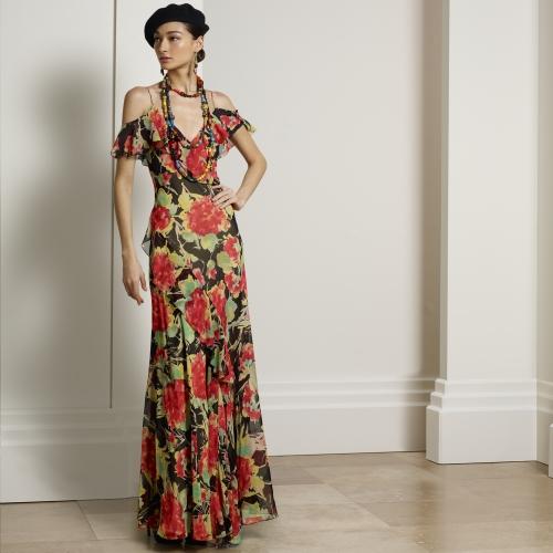 çingene elbisesi, çiçekli elbise, uzun elbise, çiçekli abiye, uzun abiye, gece elbisesi