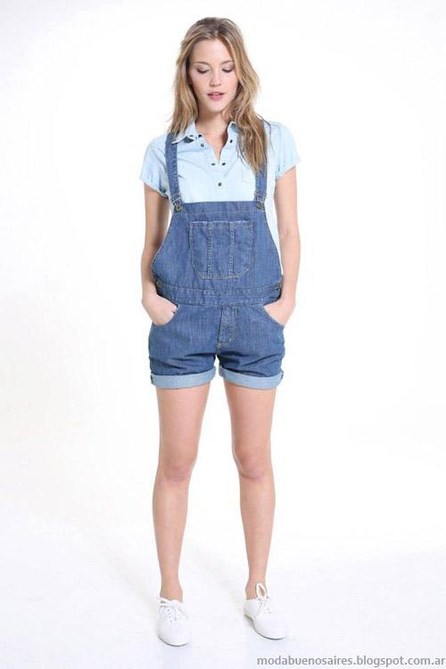 Riffle Jeans enteritos primavera verano 2014 moda mujer.