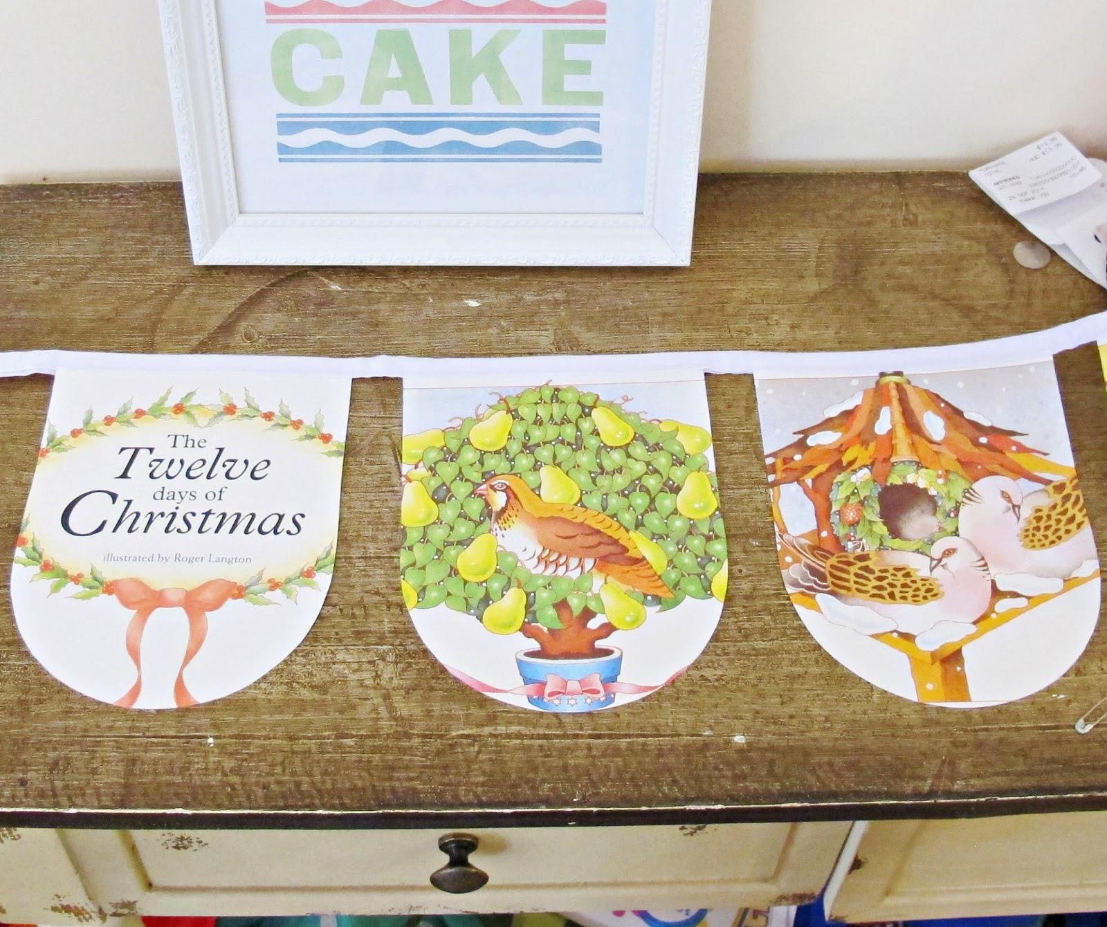 image book bunting the twelve days of christmas domum vindemia illustrated seasonal