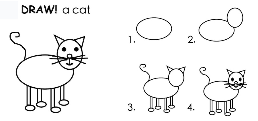 i hope everyone yes even teens and grownups will download this lesson and draw a cat in marker or paint or sand etc any way you like