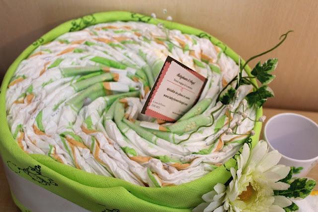 gâteau de couches thème vert