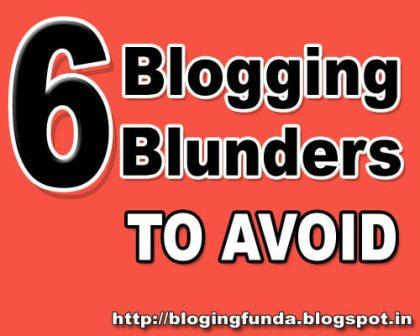 6 Blogging Blunders that will scare visitors off your site is a mini guide for new bloggers are are yet to cross the big mile stone of blogging. BloggingFunda is a community of Bloggers to write content about blogging to help new bloggers to stay motivate while blogging.