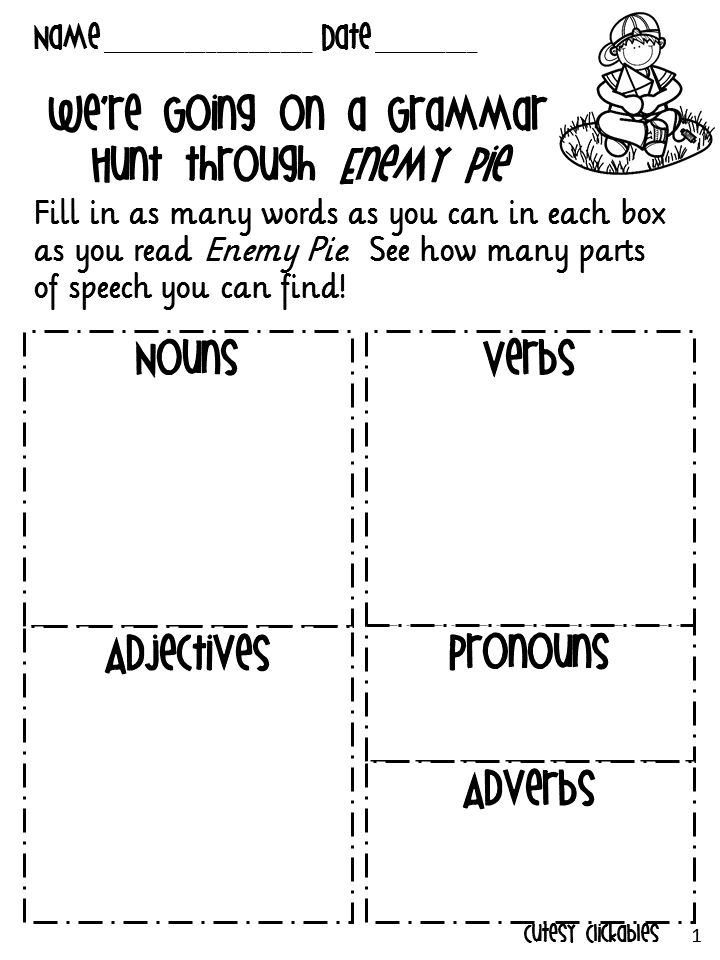 Printables Mentoring Worksheets collaboration cuties mentor sentences task cards freebie and sale i figured this would be perfect to link up today because enemy pie sheet goes right along with the free senten