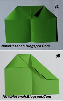 cara membuat origami untuk pemula bentuk pesawat terbang 3