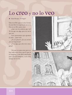 Lo creo y no lo veo - Español Lecturas 5to 2014-2015