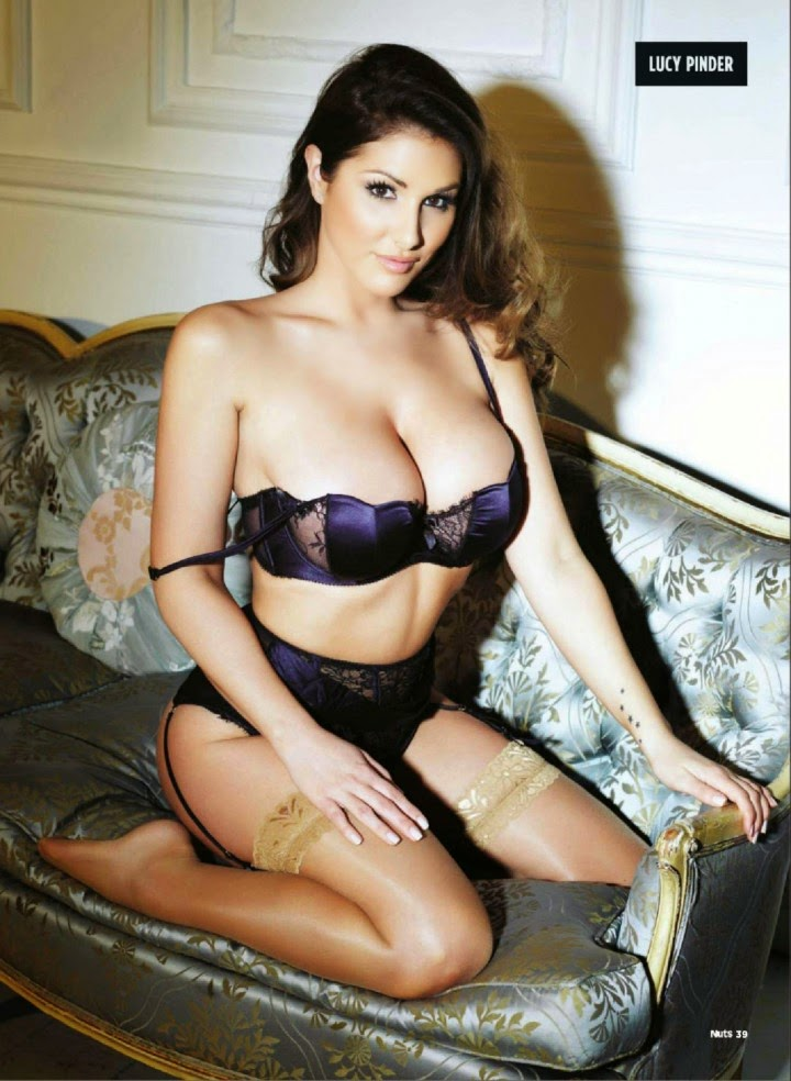 Lucy Pinder, Nuts Magazine, Amazing new pics, Non bra picture, Lucy Pinder full biography, Lucy Pinder bikini lingerie panties and bra