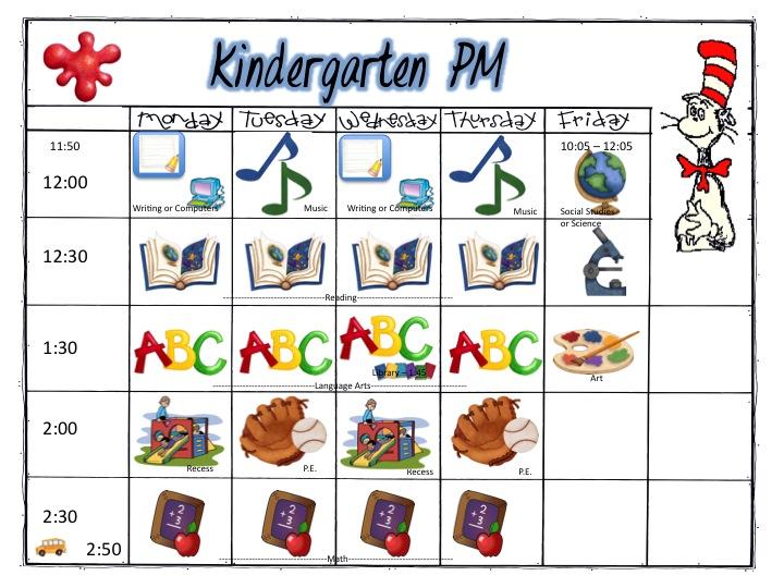 Kindergarten: Schedule