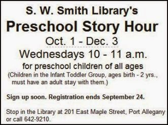 Register by 9-24 Preschool Story Hour