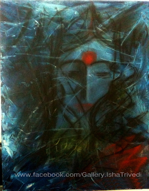 "THE LADY in blue Painted by Isha Trivedi ""Isha Trivedi"""