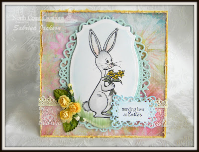 Stamps North Coast Creations Bouquet Bunny- Designer Sabrina Jackson
