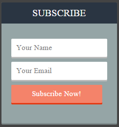 Widget Subscribe Via Email Simple