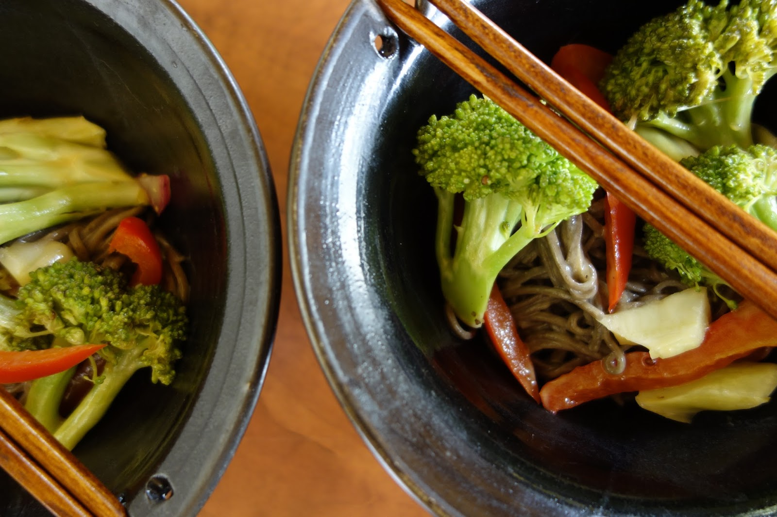 ... Hands Warm Earth: Soba Noodles with Broccoli and Ginger-Peanut Sauce