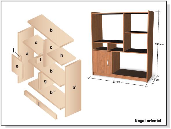 Muebles de melamina y madera plano de mueble para tv for Manual para armar un mueble