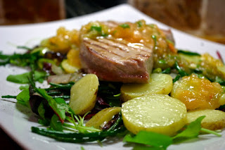 Tuna & Potato, Samphire & Radicchio Salad