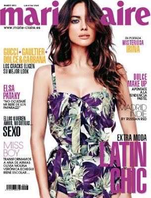 Marie Claire, morado, latin chic, sexo, marzo, 2012, portada, elsa pataky, gucci, gaultier, dolce&Gabanna