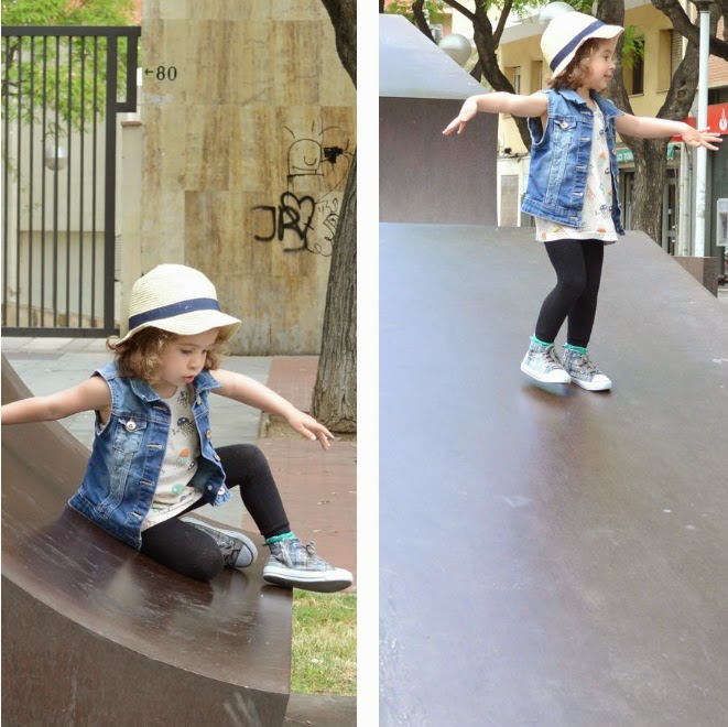 KIDdO Style: Indikidual Jellyfish top + GAP denim vest