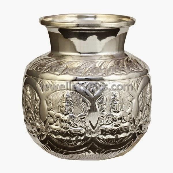silver pooja utensils